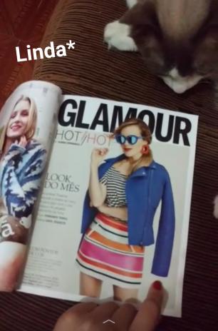 Revista Glamour de Fevereiro no Snapchat