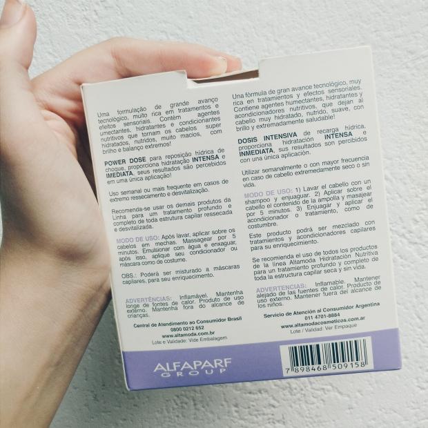 Blog Bruna Nobre: Dose Intensiva de hidratação para cabelos da Alfaparf